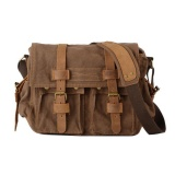 Buy Niceeshopmen S Vintage Canvas Leather Tote Satchel Sch**L Military Shoulder Messenger Sling Drawstring Rucksack Crossbody Hiking Bag Backpack For Toiletry Gym Travel Work Laptop Coffee Intl Niceeshop Cheap
