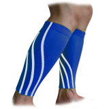 Niceshop One Pair Professional Leg Calf Compression Sleeves Guards For Running Cycling Basketball Badminton Sports Calf Support Sleeve Stockings For Women Men Calf Pain Relief Shin Splints L Blue Intl Best Buy