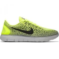 Nike Mens Free RN Distance Running Shoe Volt, Black, Dark Grey - intl