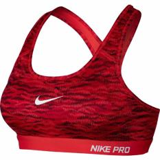Buying Nike Pro Classic Padded Reflect Sports Bra Crimson Black