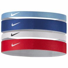 Nike Women sPrinted Headbands 4 pieces pack (Red White Navy Blue 1a7214d0195