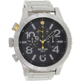 Best Price Nixon 48 20 Chrono Black Watch A486 000 Export