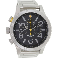 Deals For Nixon 48 20 Chrono Black Watch A486 000 Export