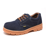 Nubuck Leather Work Safety Shoes Protective Boots Smash Proof Dark Blue 39 Intl Free Shipping