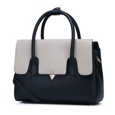 New Nucelle Women Real Genuine Leather Purse Satchel Shoulder Hand Bag Tote Colorful Cover Black Intl