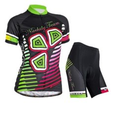 Price Compare Nuckily Women Cycling Jersey And Shorts Set Quick Dry Pockets Gel Padded Short Sleeve Intl