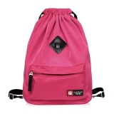 Sale Nylon Water Proof Backpack Casual Bags Rose Red Intl China