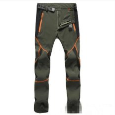 Price Ocean Fashion Lovers Quick Drying Pants Mountaineering Large Size Outdoors Motion Stretch Pants Ultrathin Trousers Army Green Intl China