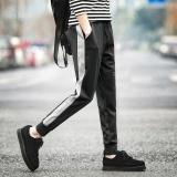 Great Deal Ocean Fashion Men Pants Joggers Casual Stripe Bunch Of Foot Haren Pants Black Intl