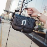 Buy Ocean Fashion New Single Shoulder Bag Iron Chain Locomotive Package Convenient Diagonal Span Black Intl On China