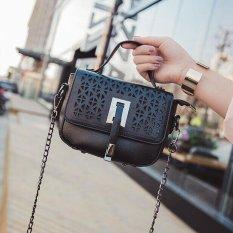 Ocean Fashion New Single Shoulder Bag Iron Chain Locomotive Package Convenient Diagonal Span Black Intl Lower Price