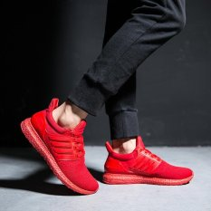 Ocean Man Fashion Sneakers Sports Shoes Running Shoes Casual Shoes Fly Fabric Net Surface Low Ventilation(Red) Intl Promo Code