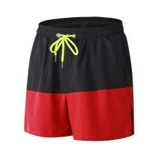 Review Ocean Men Casual Sports Shorts Running Basketball Fitness Training Breathable Loose Stretch Quick Drying Shorts (Red) Intl China