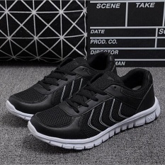 Ocean Men Tennis Shoes Running Shoes Outdoors Lace-Up Ventilation Net Cloth Unisex Fashion Gym Shoes(black) - Intl By Ocean Shopping Mall.