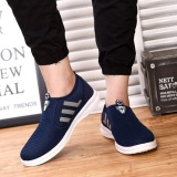 Recent Ocean Men Walking Shoes Outdoor Sport Cloth Shoes Comfortable Leisure Wear Resisting Fashion Ventilation Flying Shoes Blue Intl