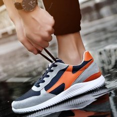 Ocean Men S Leisure Shoes Running Shoes Mesh Shoes Sports Shoe Breathable Blue And Orange Intl For Sale Online