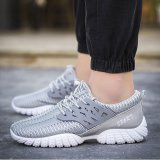 Ocean Men S Leisure Shoes Sports Shoes Running Shoes Low To Help Breathable Grey Intl China