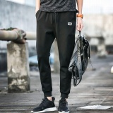 Ocean New Fashion Joggers Pants Leisure Micro Bomb Haren Sports Pants Black 809 Intl Cheap