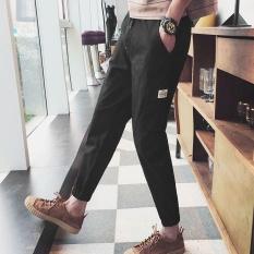 Ocean New Fashion Men Joggers Pants Leisure Casual Micro Elastic Pencil Pants Black Intl Sale