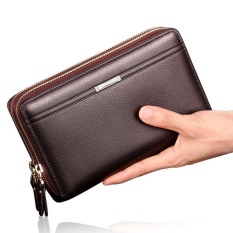 Sale Ocean New Fashion Wallets Cowhide Bifold Zipper Mobile Phone Wallet Brown Intl China