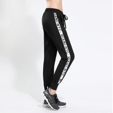 Coupon Ocean New Fashion Women Sports Pants Han Version Loose Trousers Breathable Elastic Running Tall Waist Quick Drying Yoga Pants Black Intl