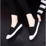 Price Comparisons For Ocean New Ladies Fashion Flat Shoes Han Edition Canvas Shoes Black Intl