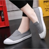 Compare Ocean New Ladies Fashion Flat Shoes Han Edition Canvas Shoes Grey Intl