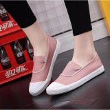 Cheaper Ocean New Ladies Fashion Flat Shoes Han Edition Canvas Shoes Pink Intl