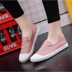Cheapest Ocean New Ladies Fashion Flat Shoes Han Edition Canvas Shoes Pink Intl