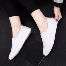 The Cheapest Ocean New Ladies Fashion Flat Shoes Han Edition Canvas Shoes White Intl Online
