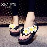 For Sale Ocean New Ladies Fashion Flip Flops Sandals Flower Beach Shoes Black Intl