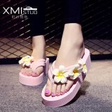 Ocean New Ladies Fashion Flip Flops Sandals Flower Beach Shoes Pink Intl Oem Discount