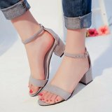 Deals For Ocean New Ladies Fashion High Heeled Sandals European Roman S*xy High Heeled Shoes Grey Intl