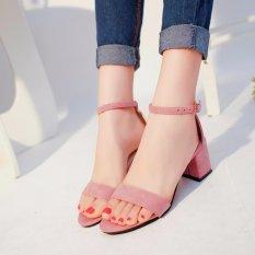 Ocean New Ladies Fashion High Heeled Sandals European Roman S*xy High Heeled Shoes Pink Intl Free Shipping