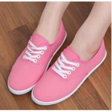 Ocean New Ladies Fashion Sports Shoes Candy Color Canvas Flat Shoes(Pink) Intl Free Shipping