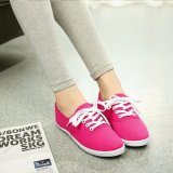 Buy Ocean New Ladies Fashion Sports Shoes Candy Color Canvas Flat Shoes(Red) Intl Oem Original