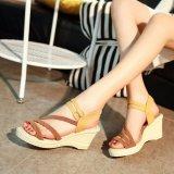 Ocean New Ladies Fashion Wedge Sandals Bohemia Beach Shoes High Heels Brown Intl On China