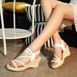 Ocean New Ladies Fashion Wedge Sandals Bohemia Beach Shoes High Heels White Intl Coupon