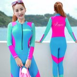 Buy Ocean New Lady Conjoined Diving Suit Large Code Long Sleeve Surfing Clothes Blue Intl Oem