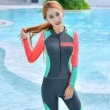 Recent Ocean New Lady Conjoined Diving Suit Large Code Long Sleeve Surfing Clothes Grey Intl