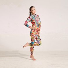 Price Ocean New Lady Long Sleeve Conjoined Diving Suit Surfing Clothes 3 Mm To Keep Warm(Full Flower ) Intl Oem