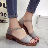 Ocean New Lady S Fashion Sandals Grind Arenaceous Fish Mouth Shoes (Grey) Intl Compare Prices