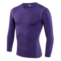 Cheapest Ocean New Man Tight Training Pro Movement Fitness Running Long Sleeve (Purple) Intl Online