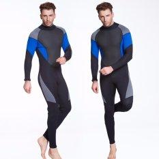 Sale Ocean New Men Conjoined Diving Suit Neoprene Rubber 3Mm Semi Dry Suit Black Intl Oem Cheap