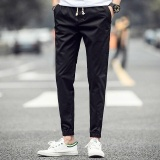 Best Buy Ocean New Men Fashion Chinos Leisure Ankle Banded Pants Haren Pants Black Intl