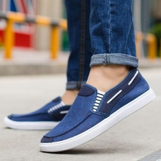 Discount Ocean New Men Fashion Slip On Casual Canvas Sneakers Breathe Shoes Blue Intl Oem China
