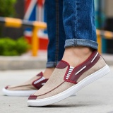 Ocean New Men Fashion Slip On Casual Canvas Sneakers Breathe Shoes Khaki Intl Oem Cheap On China