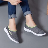 Price Ocean New Men Walking Shoes Unisex Sports Outdoors Casual Breathable Running Shoes Cloth Shoes Grey Intl On China