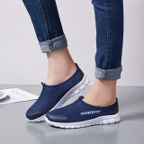 Buy Ocean New Men Walking Shoes Unisex Sports Outdoors Casual Breathable Running Shoes Cloth Shoes Dark Blue Intl Oem Original