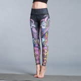 Discount Ocean New Sports Women Pants Animal Printed Yoga Motion Tight Elastic Training Bodybuilding Pants Hk57 Octopus Intl Oem China